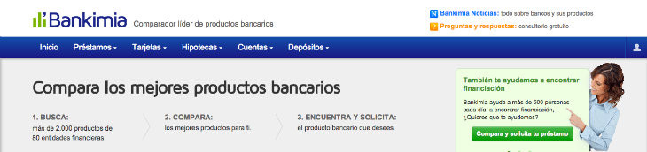 Comparador de préstamos en Bankimia