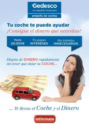 Empeño de coches en Gedesco