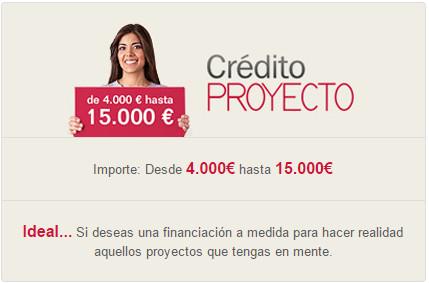 Condiciones del Crédito Proyecto