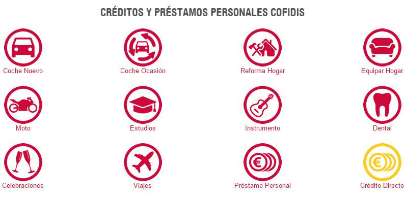 Créditos y préstamos personales de Cofidis