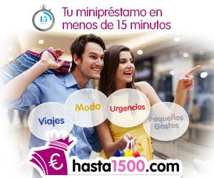 Minipréstamos online Hasta1500