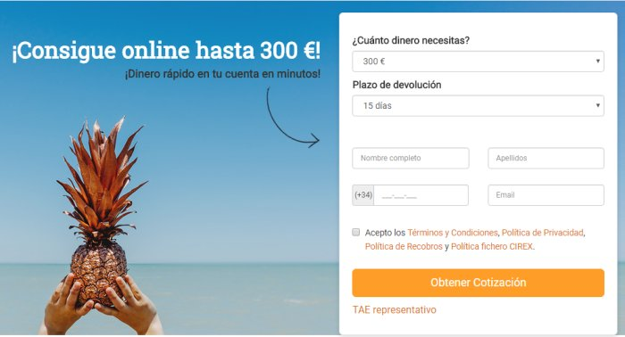 Solicitar micro préstamos en Dinero Rapid