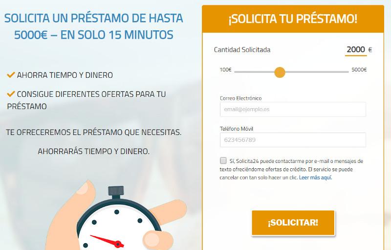 Préstamos rápidos online - Solicita24