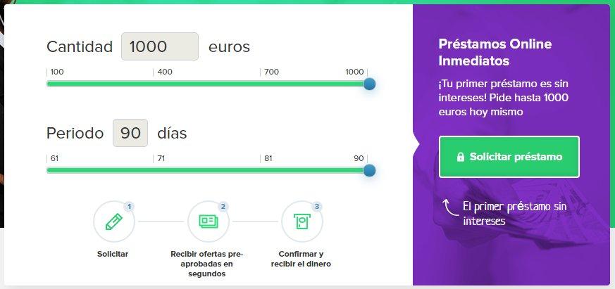 Formulario de solicitud online de Crédito Estrella